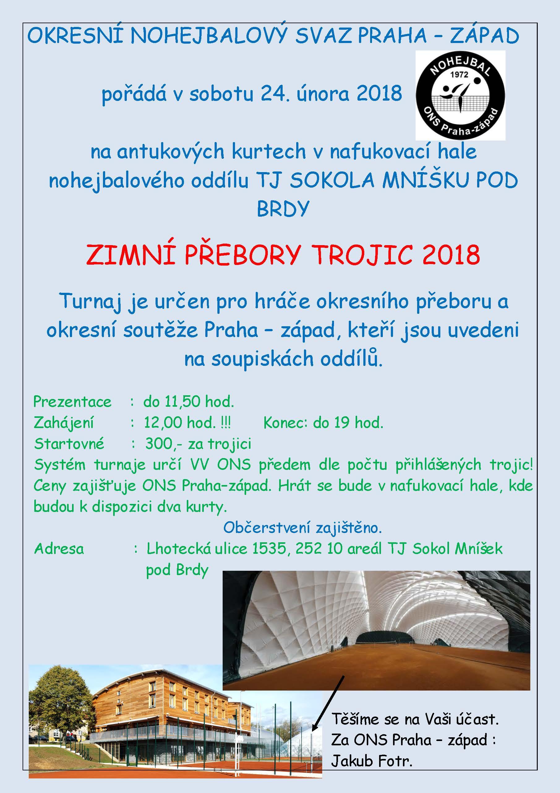 pozvánka zimní pohár trojic 2018